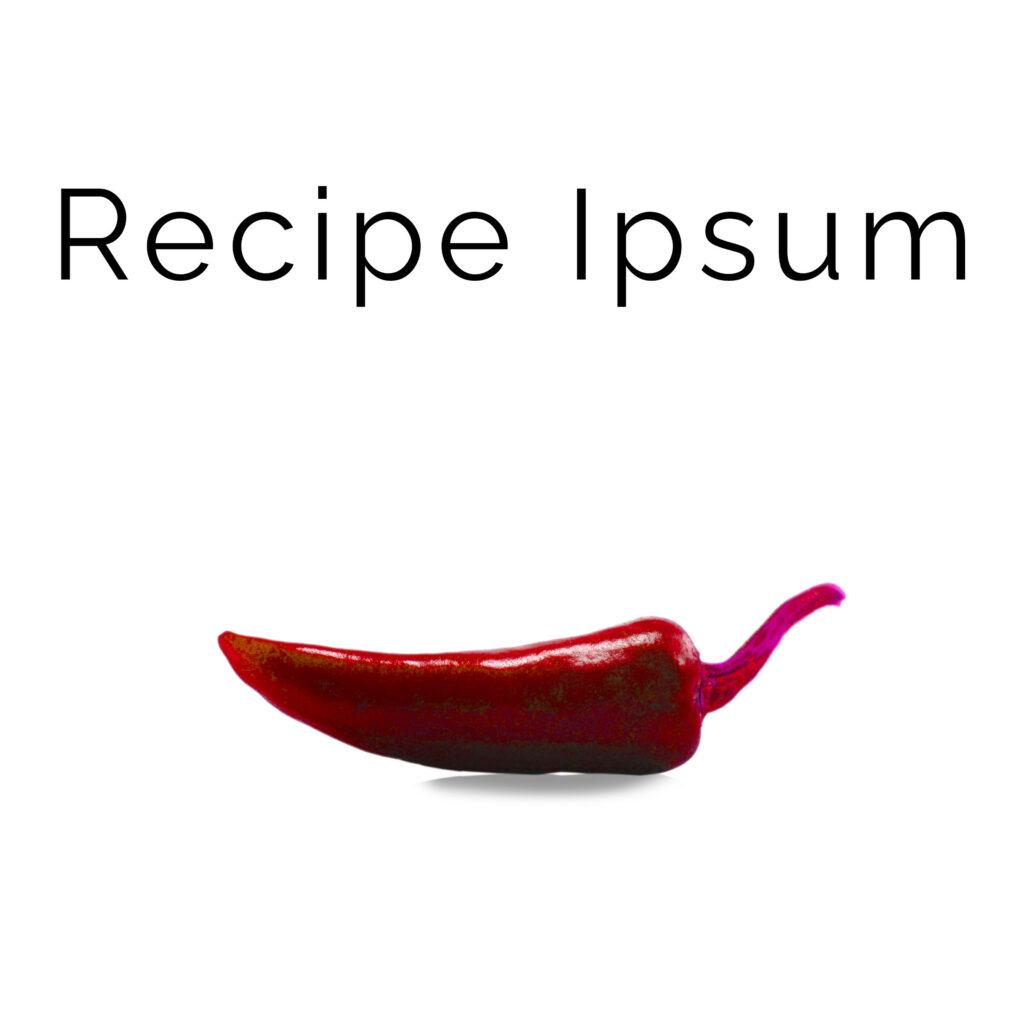 recipe ipsum logo